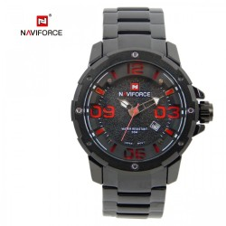 Naviforce 9078 Dial Analog Watch for Men - Red image here