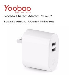 Yoobao All in one 2.1 with 2 port Adapter YB702 - White image here