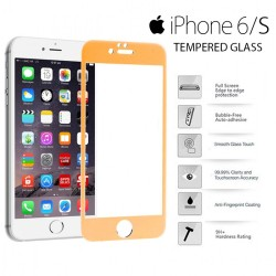 Yoobao Apple iPhone 6/S Tempered Glass Protector Screen - Gold image here