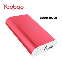 YOOBAO Intelligent Power Bank S3 6000mAh Portable Charger - Red image here