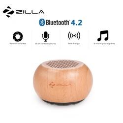 Latest Gadgets,Zilla TWS Natural Wood Mini Pairable Wireless Speaker,brown,LGZIL00001XXX-0006963 image here