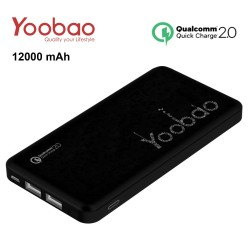 Latest Gadgets,Yoobao PL12QC 12000 mah Lithium Polymer Powerbank with Qualcomm Quick Charge Port,black,LGYBOPL12QBLK-0005446 image here