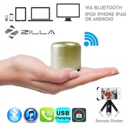 Latest Gadgets,Zilla Metal Nano Bluetooth Speaker With Camera Shutter,gold,LGXXX000M2GLD-0006081 image here