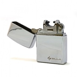 Zilla Electric Rechargeable Micro USB Lighter - Silver image here