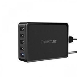 Latest Gadgets,Tronsmart U5PTA 54W Five Port 1 USB Quick Charge 3.0 And 4 USB 2.4A Charger,black,LGTROU5PTABLK-0005385 image here
