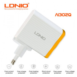 LDNIO AI302Q QC3.0 Charger - Gold image here