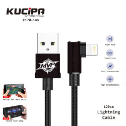 Latest Gadgets,Kucipa K170-ios Nylon Braided Elbow Type Lightning Data and Charging Line 120 cm,black,LGKUCK170iBLK-0007514 image here