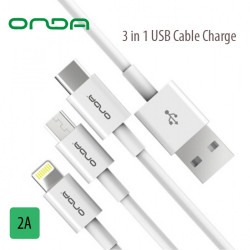 Onda XC13 3 in 1 Cable - White image here