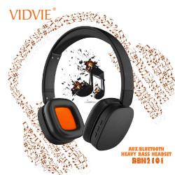 Latest Gadgets,Vidvie BBH2101 Heavy Bass Smart Wireless Bluetooth Headset,black,LGVDVBBH21BLK-0007775 image here