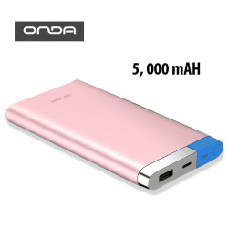 ONDA V50T 5,000 mAh Micro and Lightning Charged Powerbank - Pink image here