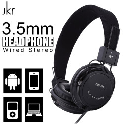 JKR-101 3.5mm Wired Stereo Headphone - Black image here