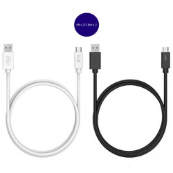 Latest Gadgets,Tronsmart CC05P 2 Pcs 1.8 Meter USB 2.0 Type-C Male to USB-A Male Sync and Charging Cable,black,LGTROCC05PBLK-0005435 image here