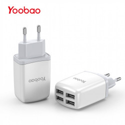 Latest Gadgets,YOOBAO YB-703 4 USB Port Universal Charger,white,LGYBOYB703WHT-0003767 image here
