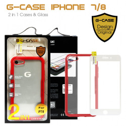 Latest Gadgets,G-Case 2 in 1 Case and Glass Phone Protection for Iphone 7/8,red,LGGCS00001RED-0007284 image here