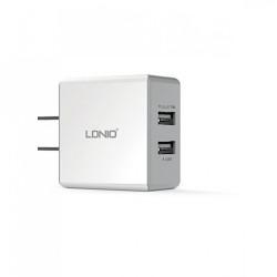 LDNIO 2.1A 2 USB Port Travel Adaptor image here