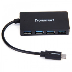 Latest Gadgets,Tronsmart CT4H 15 cm Type-C Male To 4 Port USB 3.0 USB-A  Hub,black,LGTRO0CT4HBLK-0005439 image here