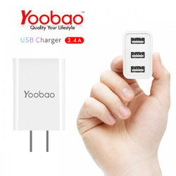 Latest Gadgets,YOOBAO Y-723 Intelligent 3 Port USB Charger,white,LGYBO0Y723WHT-0006086 image here