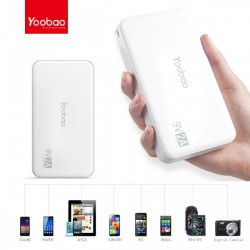 YOOBAO Q10000 MAH POWER BANK 9V/2A - WHITE image here