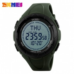 SKMEI 1232 30M WATERPROOF DIGITAL WATCH WITH COMPASS - GREEN image here
