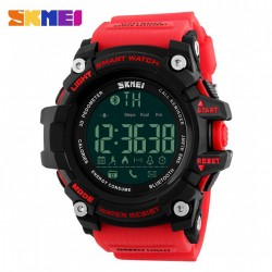 SKMEI DG1227 50M WATERPROOF SPORTS BLUETOOTH WATCH - RED image here