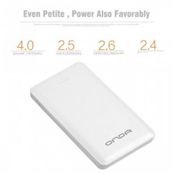Latest Gadgets,ONDA 10000 MAH Q100T SLIM POWER BANK,white,LGONDQ100TWHT-0005765 image here