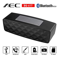 Latest Gadgets,AEC Multifunction Bluetooth Speaker with Powerbank and FM Radio,black,LGAECBQ617BLK-0005171 image here