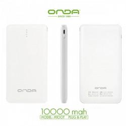 Latest Gadgets,ONDA 10000 MAH POWER BANK,white,LGONDM100TWHT-0004852 image here