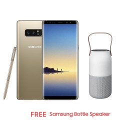 Samsung Galaxy Note8 64GB (Gold) with Free Samsung Bottle Speaker image here