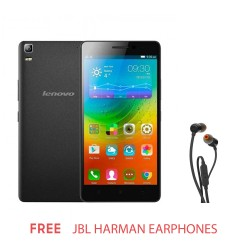 LENOVO A7000 PLUS BLACK with FREE JBL HARMAN EARPHONES image here