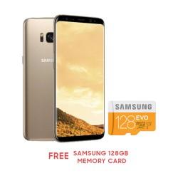 "Samsung Galaxy S8+ 6.2"" 64GB (MAPLE GOLD) Free Samsung 128GB Memory card image here"