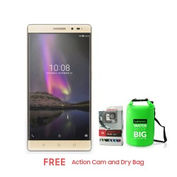 LENOVO PHAB 2 PLUS 32GB (CHAMPAGNE GOLD) WITH FREE DRY BAG AND ACTION CAM image here