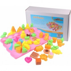 Motion Sand,44 Pieces Assorted Molds With Sand Tray,M042 image here
