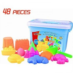 MOTION SAND 48 PCS. ASSORTED MOLDS IN STORAGE BOX image here