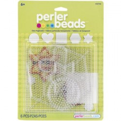 Perler Beads Small & Large Basic Clear Pegboards image here