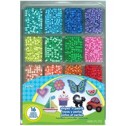 Perler Beads,Fused Bead Tray 4,000pcs. Stripes N' Pearls,80-17513 image here
