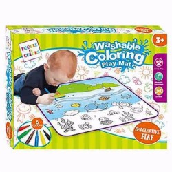 First Classroom Washable Doodle Coloring Playmat – Sea Creatures image here