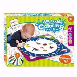 First Classroom Washable Doodle Coloring Playmat – Animals, Fruits & Objects image here