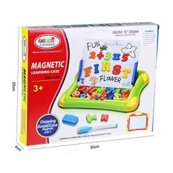 Write N' Draw Magnetic Learning Case (Colored Doodle) image here