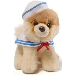 Gund,Itty Bitty Boo Sailor Stuffed Dog 5 Plush,4058941 image here