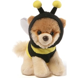 Gund,Itty Bitty Boo Bee Stuffed Dog 5 Plush,4058943 image here