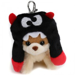 Gund Itty Boo In Scarf Hat Keychain image here