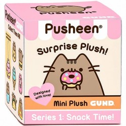 Gund,Pusheen Surprise Plush Blind Box Series #1 Surprise (W/ Silver Keychain),4054853RP image here
