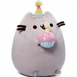 Gund,Pusheen Birthday 10.5H Plush,4051536 image here