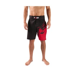 POSS GROUND WORKS FIGHT SHORTS BLACK/RED image here