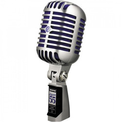 Shure, SUPER 55 DELUXE VOCAL MICROPHONE,silver,SUPER 55 image here