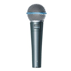 Shure, BETA 58A VOCAL MICROPHONE,silver,Beta 58A image here