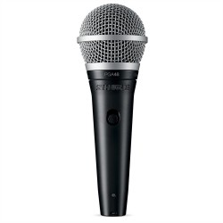 Shure, PGA48-QTR,black,SHURE PGA48-QTR CARDIOID DYNAMIC VOCAL MICROPHONE image here