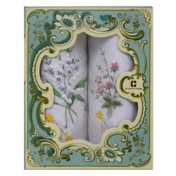Armando Caruso, Embroidered Cotton Handkerchief Set, ACH-B image here