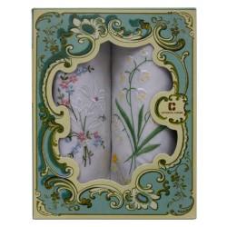 Armando Caruso, Embroidered Cotton Handkerchief Set, ACH-C image here