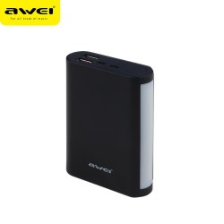 Awei P40k 10,000mAh Quick Charge 3.0 Micro/Lightning Dual Input Power Bank With LED soft light (Black) image here